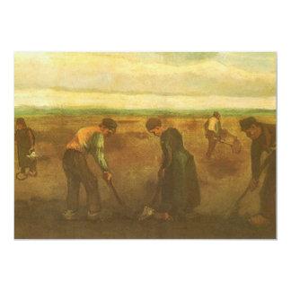 Potato Planting by Vincent van Gogh, Vintage Art Card