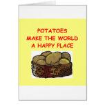 potato potatoes greeting card