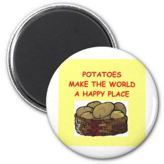 potato potatoes refrigerator magnets