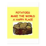 potato potatoes post card
