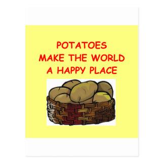 potato potatoes postcard