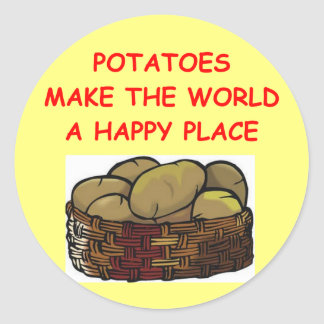 potato potatoes classic round sticker