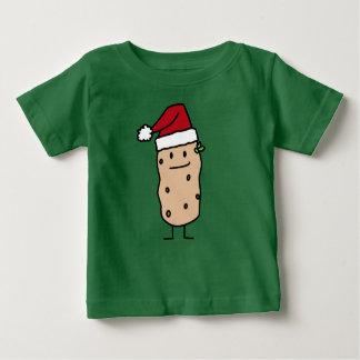 Potato Potatoes wearing Christmas Santa Hat Happy Baby T-Shirt