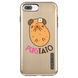 Incipio DualPro Shine iPhone 7 Plus Case with Pug Phone Cases design