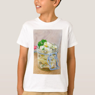 Potato salad in a jar on wooden T-Shirt