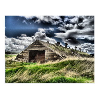 Potato Shed in a Storm Postcard