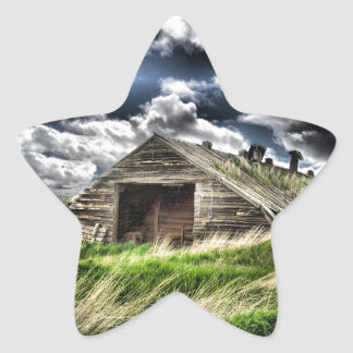 Potato Shed in a Storm - Star Sticker