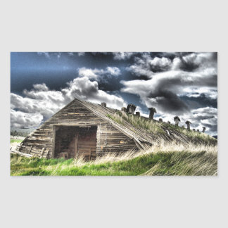 Potato Shed in a Storm Rectangular Sticker