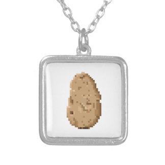 Potato Square Pendant Necklace