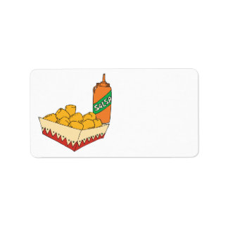 potato tater tots with salsa custom address labels