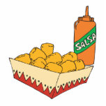 potato tater tots with salsa photo cut outs