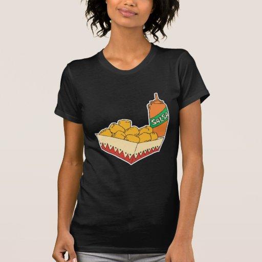 potato tater tots with salsa t shirts