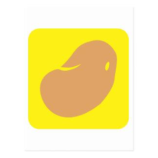 Potato Vegetable Icon Postcard