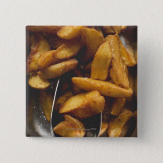 Potato wedges with salt (detail) pinback button