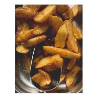 Potato wedges with salt (detail) postcard