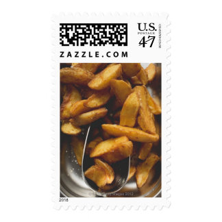 Potato wedges with salt (detail) stamp
