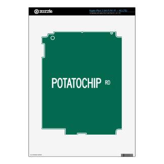 Potatochip Road, Street Sign, Missouri, US iPad 3 Skins