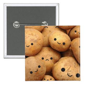 Potatoes 2 Inch Square Button