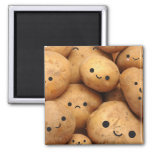 Potatoes 2 Inch Square Magnet