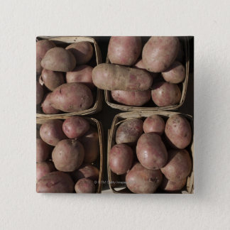 Potatoes at a New Jersey farmer's market Pinback Button