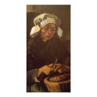 Potatoes by Vincent van Gogh Custom Photo Card
