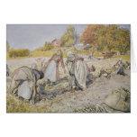 Potatoes de excavación, 1905 tarjeta de felicitación