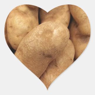 Potatoes Heart Sticker