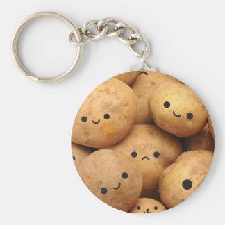 Potatoes Basic Round Button Keychain