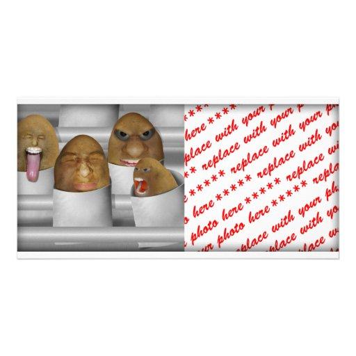 Potatoes On The Line Photo Card