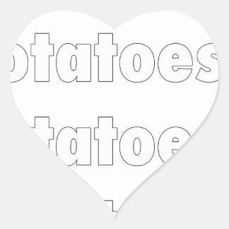 Potatoes & Potatoes & Potatoes Heart Sticker