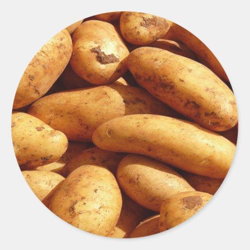 potatoes round sticker