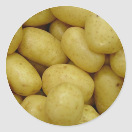 Potatoes Round Stickers