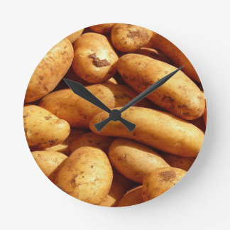 potatoes wall clocks