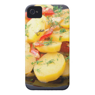 Potatoes with onion, bell pepper and fennel iPhone 4 case