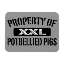 Potbellied Pigs Property Magnet