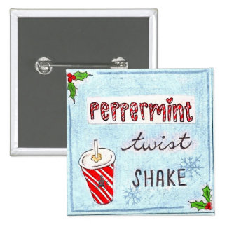 Potbelly NEW Peppermint Twist Shake bag tag Button