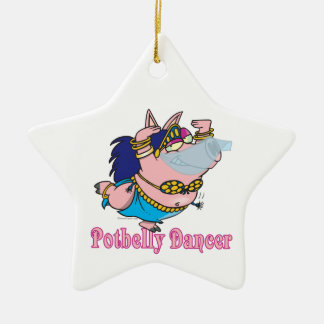 potbelly pig belly dancer funny piggy christmas tree ornaments