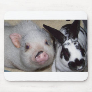 Potbelly Pig & Friend Mouse Pad