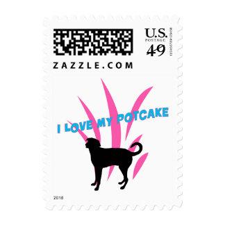 """Potcake Stamp 1.8"""" x 1.3"""", $0.46 (1st Class 1oz)"""