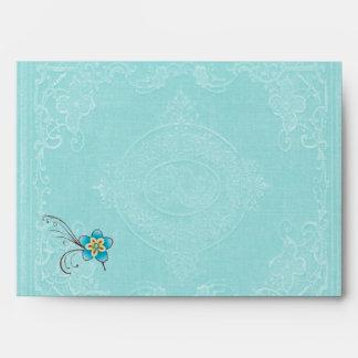 Pote azul del té del sobre o la lámpara de Aladin