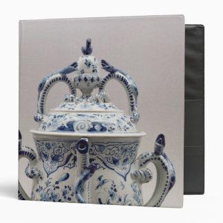 """Pote, azul y blanco del posset de Lambeth Carpeta 1 1/2"""""""