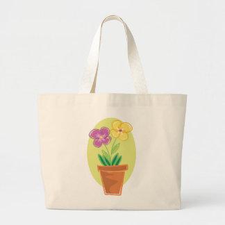 Pote bonito de flores bolsas