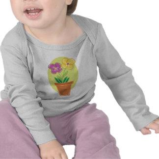 Pote bonito de flores camiseta