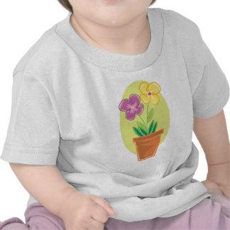 Pote bonito de flores camisetas
