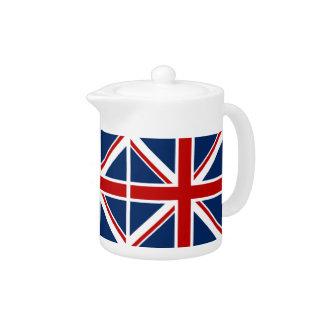 Pote británico del té de la bandera