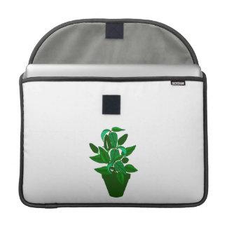 Pote con la planta temática verde fundas macbook pro