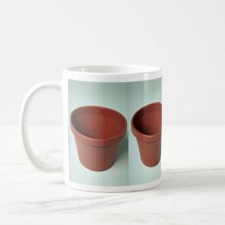 Pote de arcilla único taza