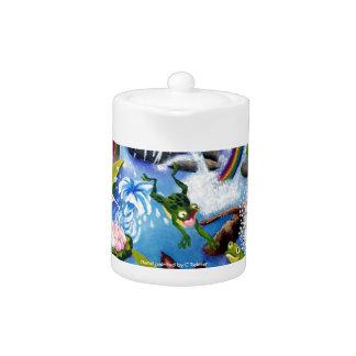 Pote de cerámica del té de la colección de la