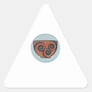 Pote de cerámica pegatina triangular