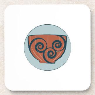 Pote de cerámica posavaso